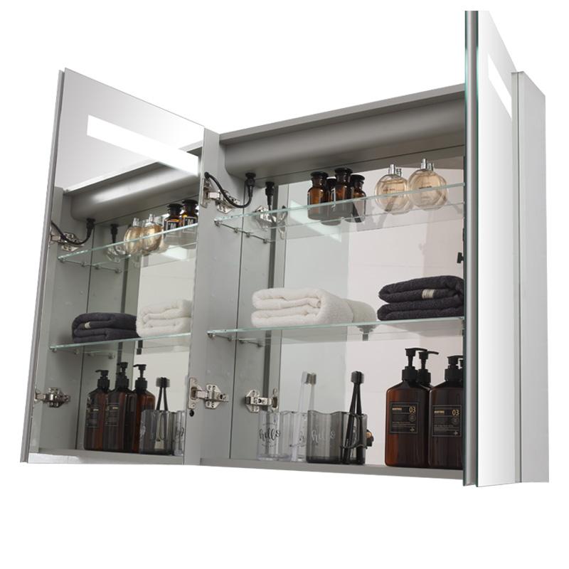 智能浴室鏡柜帶燈衛生間洗面盆柜鏡洗手間吊柜衛生間鏡箱掛墻式
