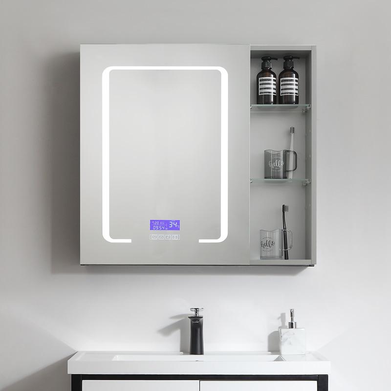 智能浴室鏡柜組合太空鋁鏡柜鋁合金衛生間簡約現代衛浴廁所浴鏡子