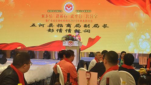 广东安徽蚌埠商会年会 五河县招商局副局长 彭倩倩致词