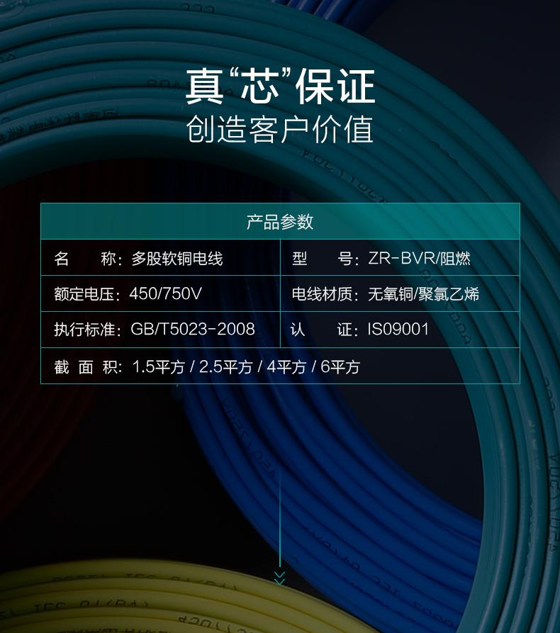 参数-亿博体育娱乐电线国标阻燃软铜芯家装电线厂家型号价格