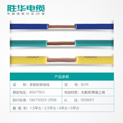 亿博体育娱乐电线BVR-1.5/2.5/4/6平方国标铜芯软电线