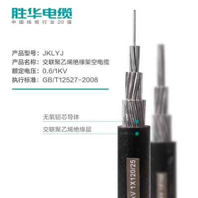 亿博体育娱乐电缆JKLYJ铝芯绝缘架空电缆线