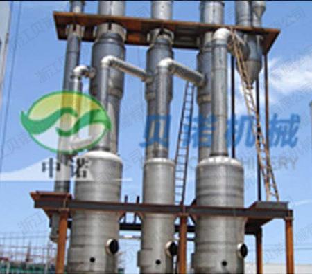 為山東福田藥業提供的三效降膜蒸發器