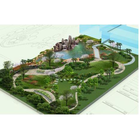 公園綠化效果圖