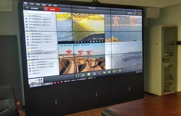 广东某海事局 46寸3x3高清液晶拼接屏