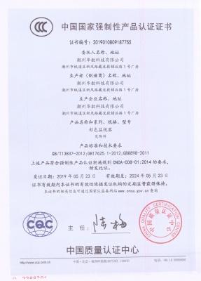 彩色监视器CCC证书