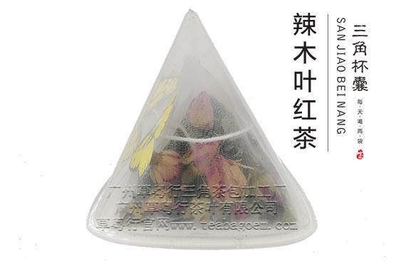 草粤行三角杯囊辣木叶红茶