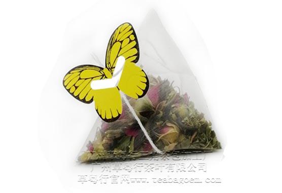 草粤行推出蝴蝶标签三角茶包贴牌加工项目