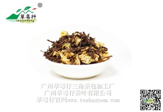 新型三角茶包系列的中老年人***茶饮——菊花普洱三角杯囊茶