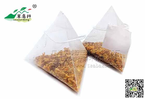 桂花黑苦荞三角茶包加工