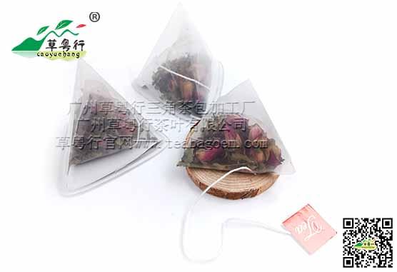 辣木叶玫瑰红茶 三角杯囊组合型袋泡茶加工案例