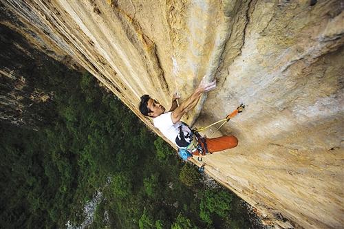"""等你来高""""攀"""" 中国攀岩自然岩壁..."""