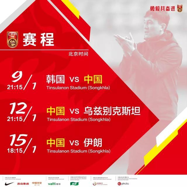 中国U-22国家男子足球队出征U-23亚锦赛名单公布