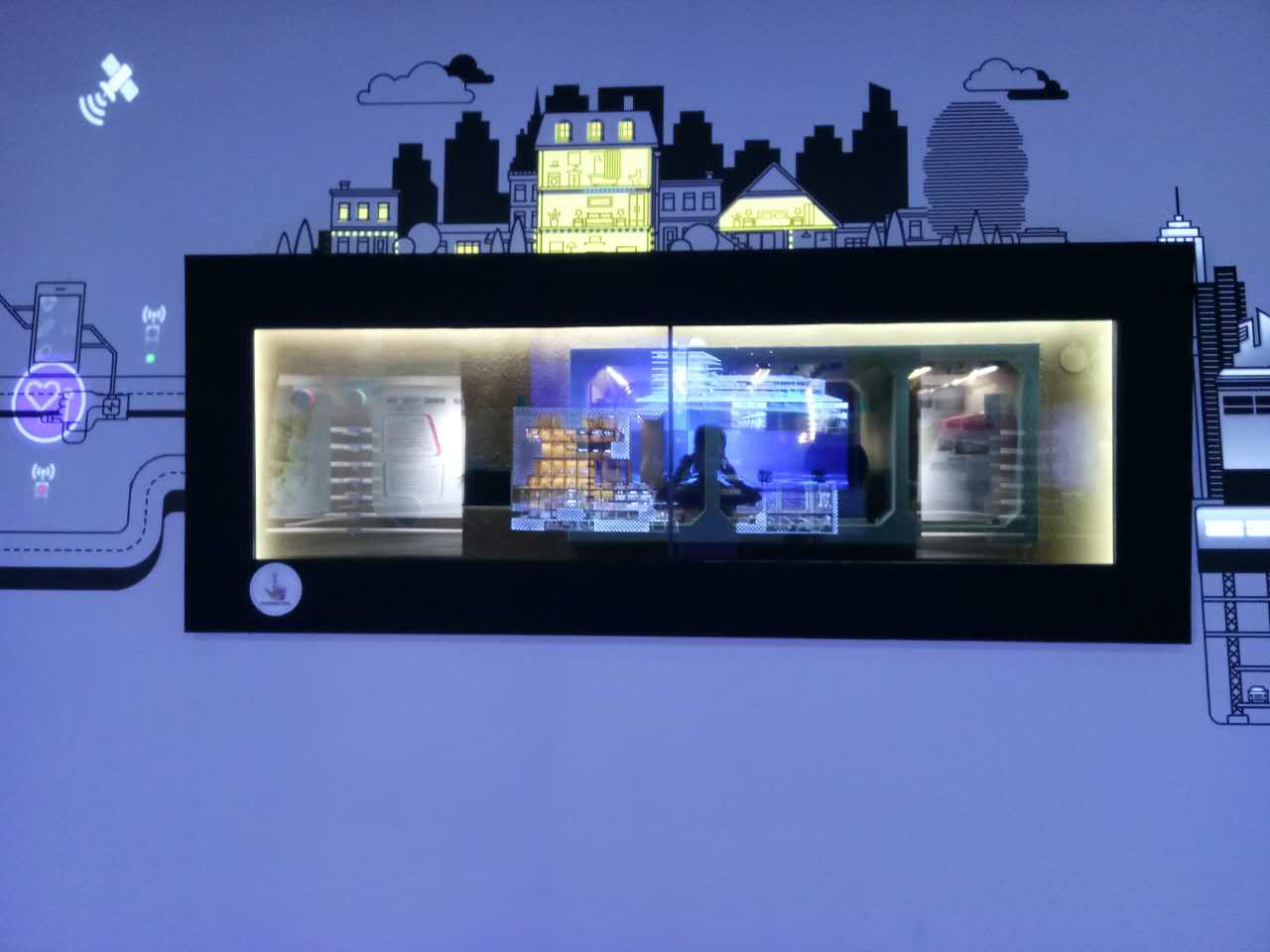 46寸1×2拼接透明屏-珠海橫琴館