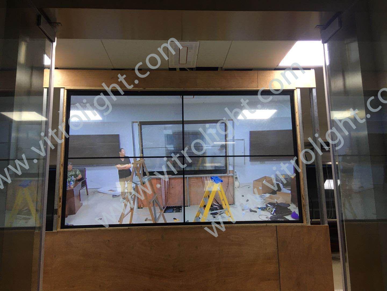 透明OLED-安徽滁州2×2OLED拼接安裝項目