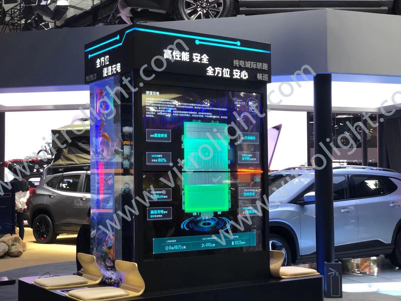透明OLED-廣州車展透明屏1×2項目