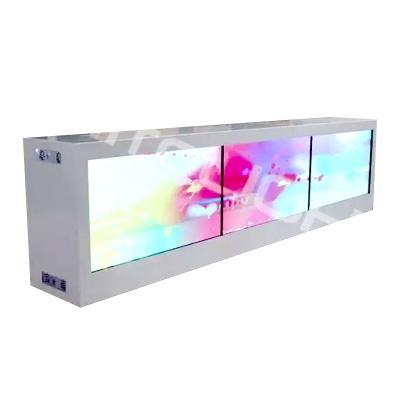 55寸透明液晶屏1*3大屏拼接
