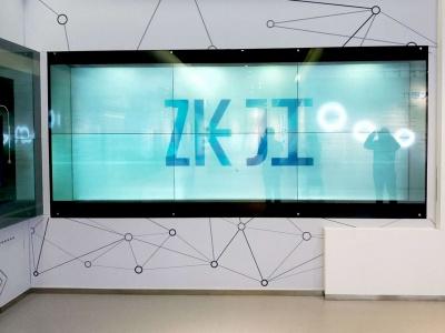 55寸透明液晶屏2*3大屏拼接