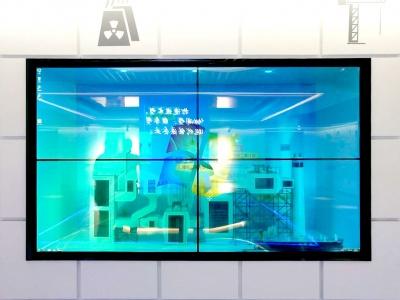 65寸透明液晶屏2*2大屏拼接