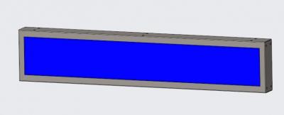 16.3寸条形货架屏