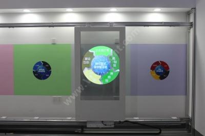 透明OLED移动滑轨-企业展厅