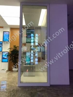 山东自贸试验区国际人才会客厅透明OLED2*2拼接