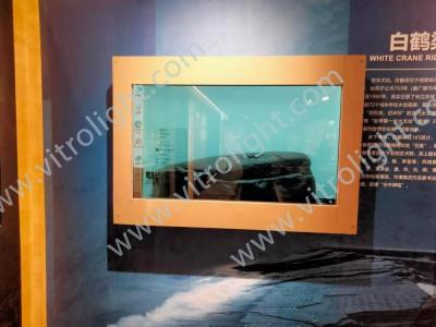 重庆市展馆55寸透明屏