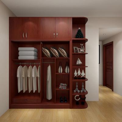 定制歐式整體衣柜臥室組合百葉移門推拉門現代簡約滑門衣櫥
