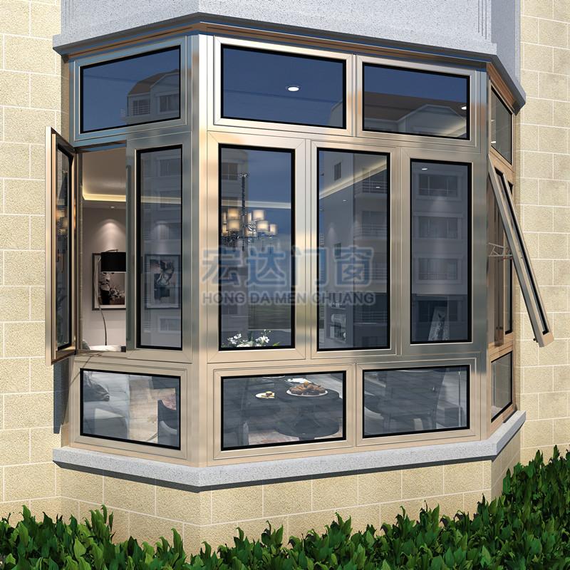 兴发断桥铝门窗,封阳台阳光房隔音窗户玻璃平开南京上海维盾铝合金门窗