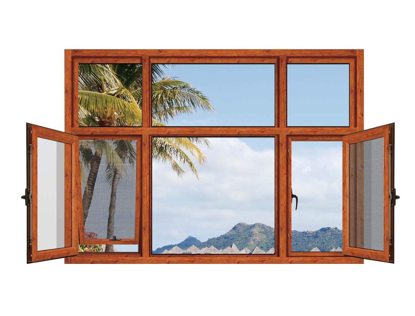定制铝包木门窗 木包铝门窗户封阳台 断桥铝门窗平开窗内开内倒窗