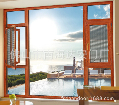 高档别墅门窗 铝包木门窗 实木门窗 断桥铝门窗 平开上悬窗