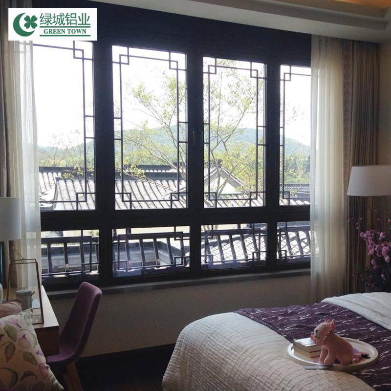 坚美断桥铝合金中国风系列门窗 隔音隔热 中式铝窗
