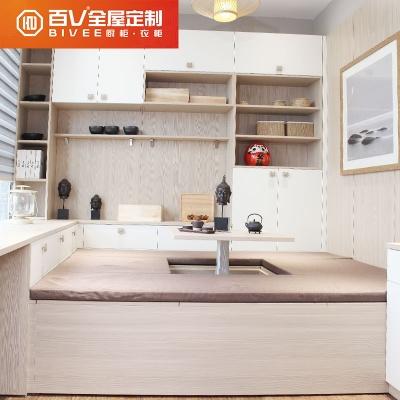 成都百V 现代简约榻榻米 成套家具定制卧室 鞋柜定制