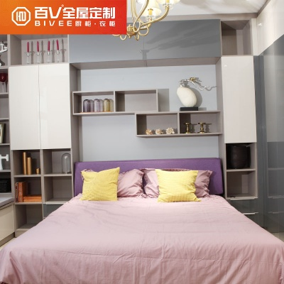 成都百V现代简约卧房家具榻榻米全屋家具定做整体衣柜床头柜定制