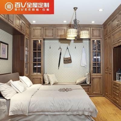 成都百v中式卧房家具定制全屋家具榻榻米整体衣柜床头柜定制