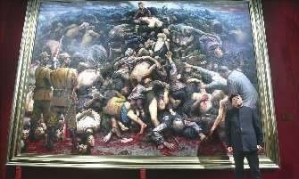 巨幅油画《南京大屠杀》 缘于一个亲历者的...