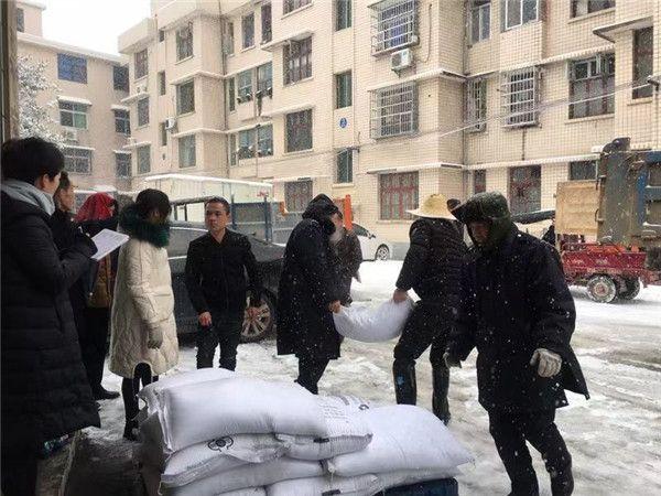 迎战冰雪丨宁乡市住保局免费发放35吨融雪剂 惠及120余个小区