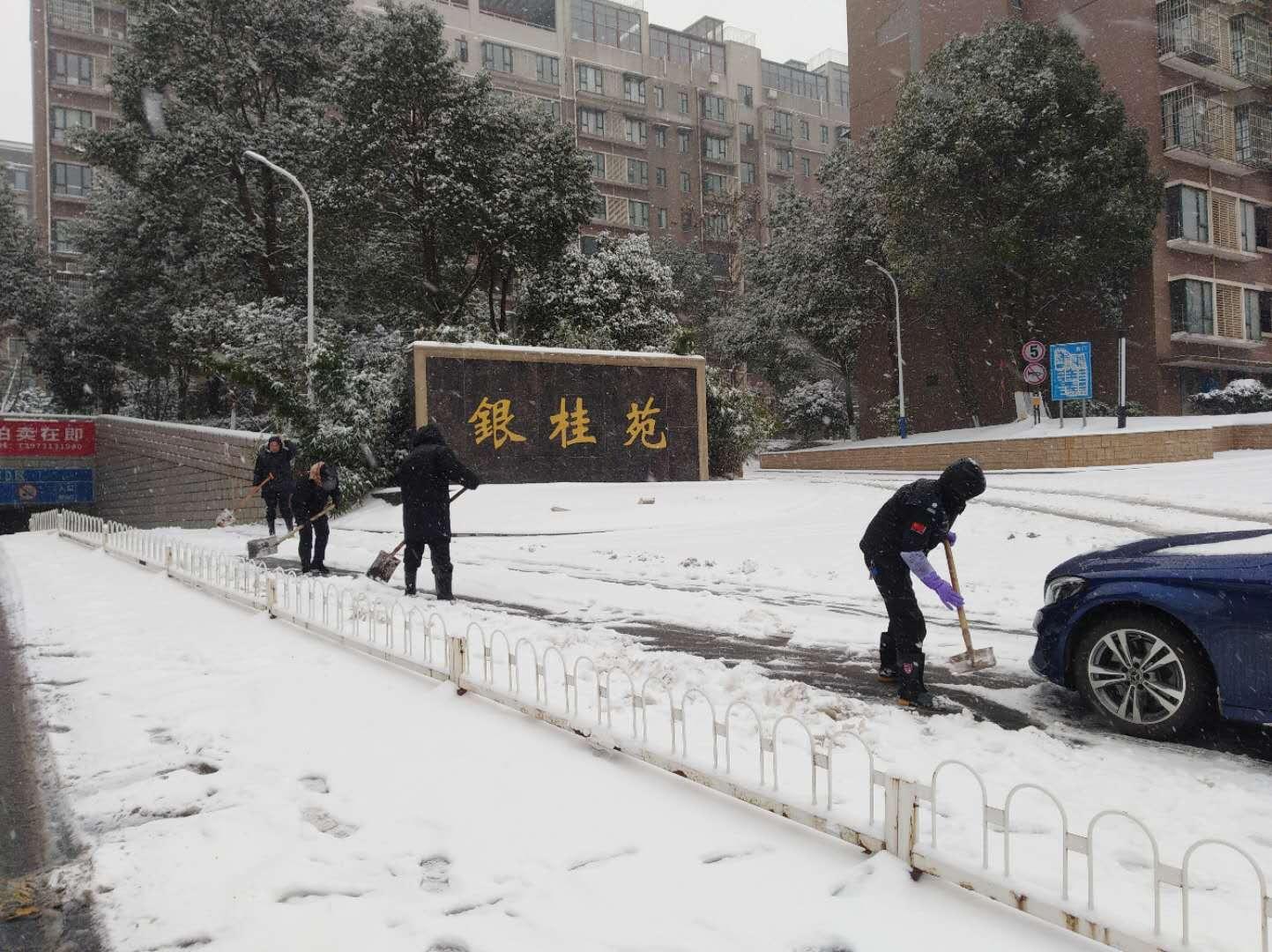 迎战冰雪丨银装素裹迎新年 党群齐心保安全