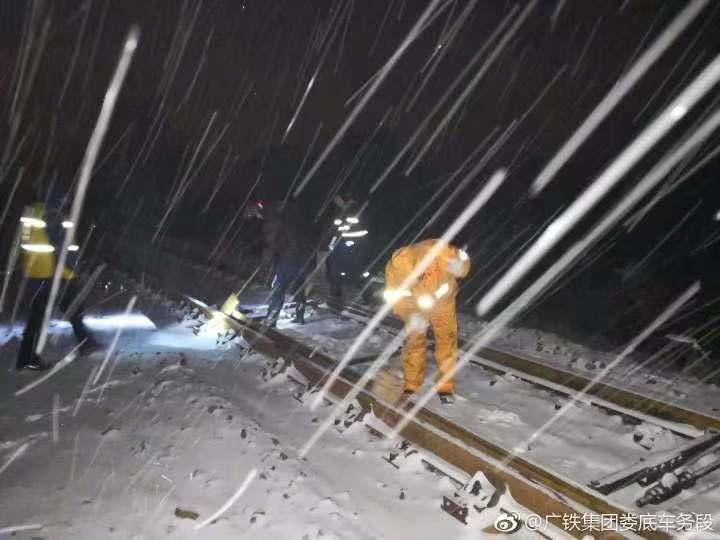 迎战冰雪 | 湖南、广东铁路运输秩序已基本恢复正常