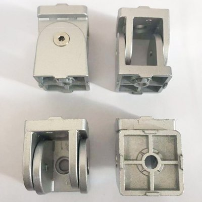 廠家直銷40活動鉸鏈鋅合金型材轉向連接件鋁型材配件