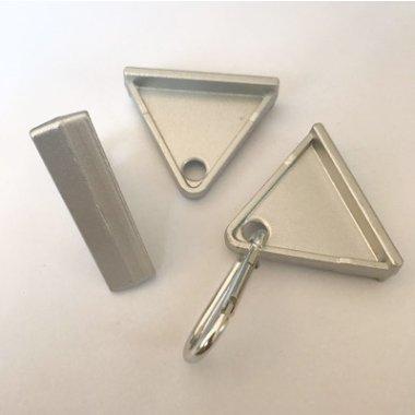 廠家直銷鋅合金45三角活動掛鉤帶鉤子工業鋁型材配件金屬掛鉤