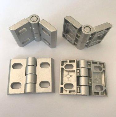 3040锌合金合页孔距35*25铝型材单边金属合页