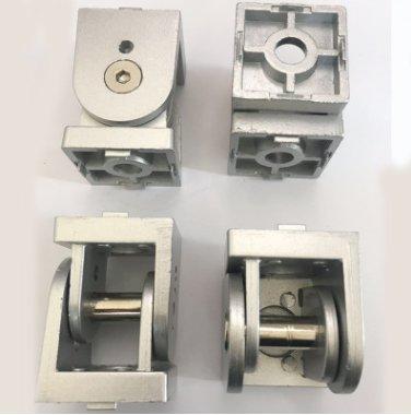 【訂購45有桿活動鉸鏈】型材鋅合金鉸鏈轉向連接件鋁型材配件