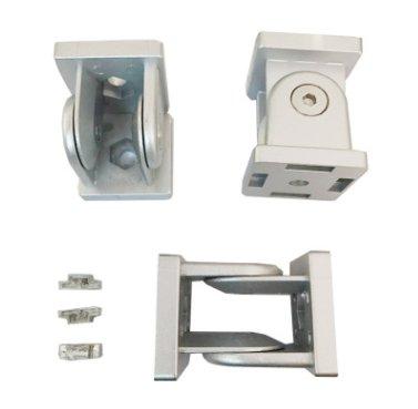 鋅合金45新款活動鉸鏈配型材轉向連接件鋁型材配件