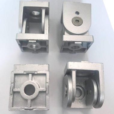 4545無桿活動鉸鏈型材鋅合金鉸鏈轉向連接件鋁型材配件