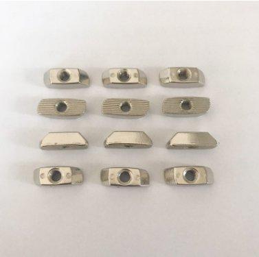 定制鋅合金T型螺母M5-40歐標型材底部無凸頭螺母緊固連接件