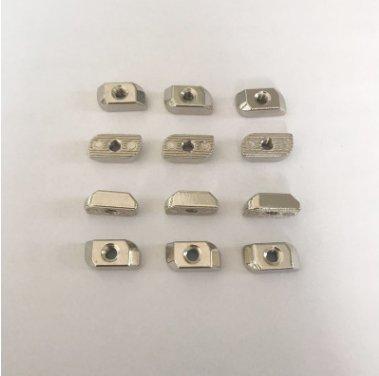 定制鋅合金T型螺母M4-30歐標型材底部無凸頭螺母緊固連接件
