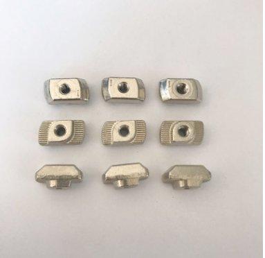 M4/M5/M6/M8-45T型螺母鋅合金歐標螺母型材螺母