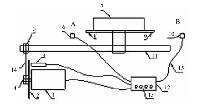 新型平面磨床自动走刀系统示意图