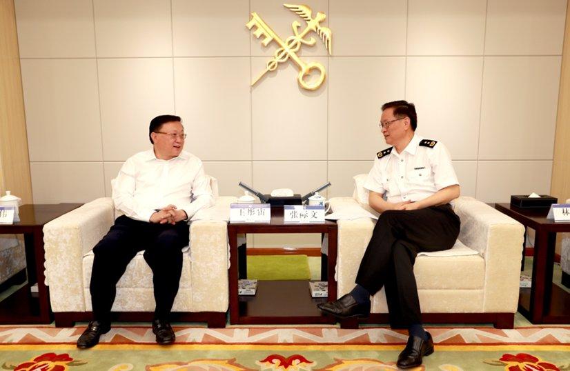 王彤宙董事长与海关总署副署长张际...